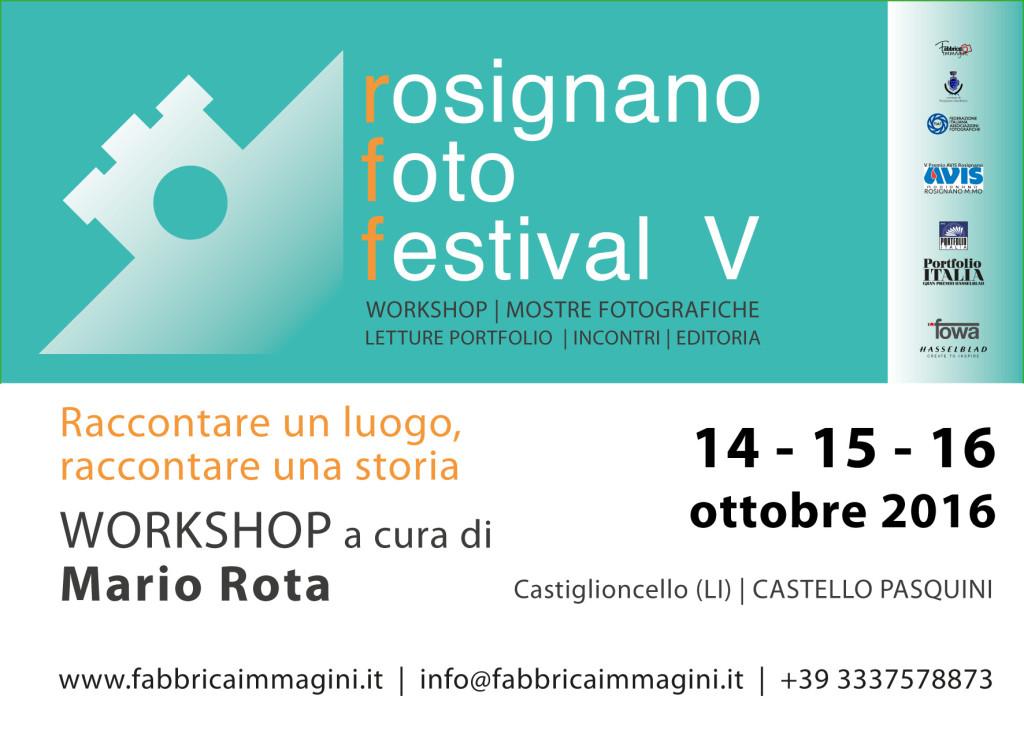 Workshop Mario Rota Rosignano Foto Festival