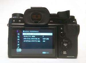 Il Menu personalizzato della mia Fujifilm X-T2